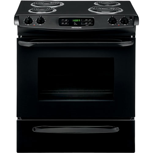 Frigidaire Ffes3015pb Black 30 Quot Coil Top Electric Slide